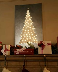 Clinton Kelly Light Up Canvas Tree. Paint Canvas And Poke Lights Through  Fromu2026