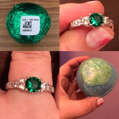 My Earth bath bomb & ring. 🌍