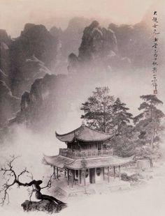 郎静山作品 Rosei mountain work