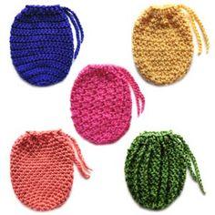 Free Crochet Purse Patterns | ... Crochet Pattern: 5 Drawstring Bags - Crochet Patterns, Tutorials and