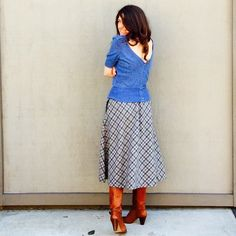 Vintage Plaid midi-skirt | size small | just listed