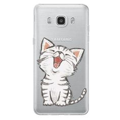 Cute Cat Design Coque For Samsung Galaxy S3 S4 S5 S6 S7 Edge Core Grand Prime J2 J5 J3 A3 A5 2015 2016 2017 Soft Silicon Case