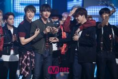 BTS @ 150507 Mnet Countdown - placed 1st place & encore stage