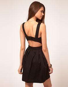 Cut Out Back Dress