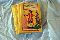 Sale Collection of 16 How to Paint Historical Costume 450-1936 Colouring Books by RTFX on Etsy