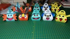 Pokemon Curvy Keepsake Boxes.  From left to right: Mudkip, Tepid, Squirtle…