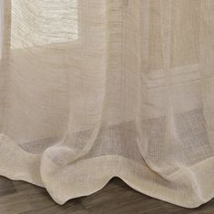 Exclusive Fabrics Linen Open Weave Natural Curtain Panel   Overstock.com Shopping - The Best Deals on Sheer Curtains