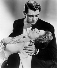 Cary Grant and Joan Fontaine in a publicity still for Suspicion, 1941