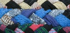 Weaving rags together in an Amish knot creates a colorful rag rug in just a few hours.