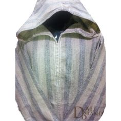 "This light Jellaba includes simplicity and oriental ""class"" with its colors and design.The fabric is especially made of traditional white and grey stripes which give elegance and brightness to the cloth."