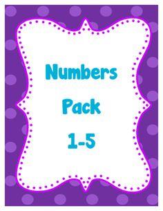 Number Pack 1-5 from mdhenke on TeachersNotebook.com -  (19 pages)  - Learning numbers 1-5 for Pre-K and Kindergarten.