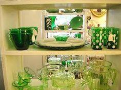 cool green dinnerware