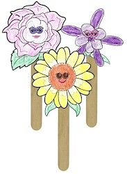 Flower Friends Puppets.. Use the puppets while your girls learn the petals. For the Light Blue petal Lupine is the flower. On www.makingfriends.com you can print them out and have the girls color them!