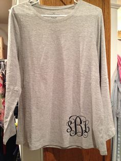 Monogrammed shirt with heat transfer vinyl
