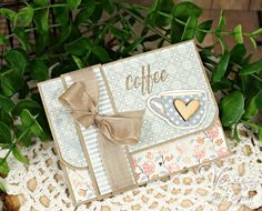 Handmade gift card holder by Sheri Gilson using the Happiness Is stamp set from Verve. #vervestamps