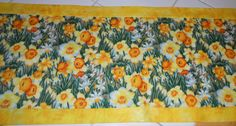 Yellow Daffodils Table Runner by ColdStreamCrafts on Etsy