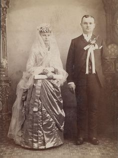 A couple on their wedding day (1880s)