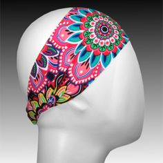 Light Performance Spandex Headband by Ponya Bands in Mandala | ponyabands.com