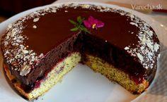 Makovo-čokoládová torta s čučoriedkami Desserts, Food, Tailgate Desserts, Deserts, Essen, Postres, Meals, Dessert, Yemek