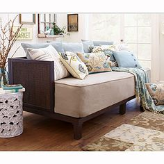 Burlap Daybed Twin Mattress Cover | Living Room Furniture| Furniture | World Market