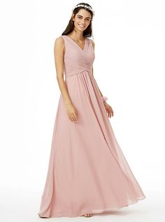 A-Line V-neck Floor Length Chiffon Bridesmaid Dress with Criss Cross Pleats by LAN TING BRIDE® - GBP £69.57 ! HOT Product! A hot product at an incredible low price is now on sale! Come check it out along with other items like this. Get great discounts, earn Rewards and much more each time you shop with us!