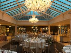 Winter Wedding in the Orangery - Flowers by Joeanna Caffrey Wedding Stuff, Chandelier, Ceiling Lights, Table Decorations, Weddings, Lighting, Winter, Flowers, Home Decor