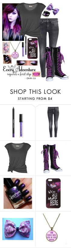"""""""Cheshire Cat"""" by frizzleliz ❤ liked on Polyvore featuring Butter London, H&M, Lija, Disney, Mew., Parlor, WALL, aliceinwonderland and cheschirecat"""