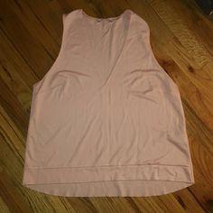 Pink sleeveless  top Low cut V neck sleeveless top Zara Tops Tank Tops