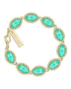 Kendra Scott Jana bracelet in mint Never worn! Just has been sitting on my desk. It's in perfect condition Kendra Scott Jewelry Bracelets Cute Jewelry, Jewelry Box, Jewelry Accessories, Fashion Accessories, Jewelry Design, Jewlery, Jewelry Bracelets, Necklaces, 14k Bracelet