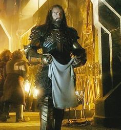 Thorin about to present Bilbo with the mythril shirt (why did he not wear it himself...the end would have been so different).