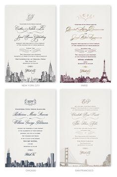 Manhattan Wedding Invitation
