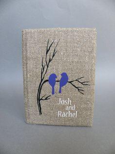 Hochzeitsgästebuch aus Leinen von Traumhochzeit auf DaWanda.com