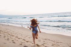 floral swim suit one piece albion beach running
