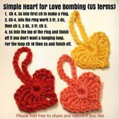 yarnbomb crochet hearts