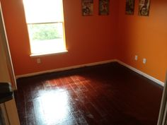 Stained Brown Paper Floors