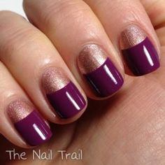 Beauty Tip: DIY FRENCH MANICURE / DIY Reverse French Manicure - Fereckels