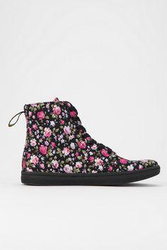 Dr. Martens Hackney Floral Canvas High-Top Sneaker