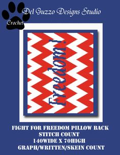 (4) Name: 'Crocheting : Fight for Freedom Pillow Back 140x70