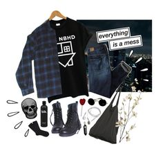 """""""Feeling senseless and beat"""" by purpleghost ❤ liked on Polyvore featuring American Eagle Outfitters, Laneus, Pier 1 Imports, Falke, Old Navy, women's clothing, women, female, woman and misses"""