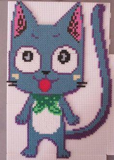 Happy Fairy Tail hama perler beads by Sebastien http://www.helpmedias.com/minecraft.php