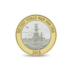 The Royal Navy 2015 UK £2 Brilliant Uncirculated Coin