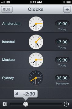 world clock. the bar in the bottom is pretty nice