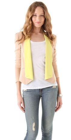 Rebecca Minkoff Becky Jacket with Contrast Lapels...love the color combination.