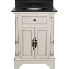 bathroom vanity 24 inch wide black