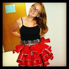 Skirt made of solo cups! Anything But Clothes party!
