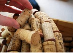 How to make a Cork Wreath.  I think I would take some dark stain or something to them.