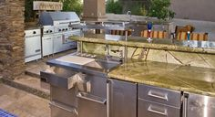 An outdoor Commercial Kitchen by Viking Range.