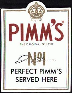 Nothing says summer like Pimm's