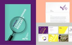 New Logo and Identity for NCVO by MultiAdaptor.  I'm a fan of simple font-based brands livened up with colour. Simple, flexible.
