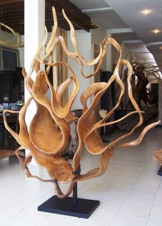 wooden root sculpture
